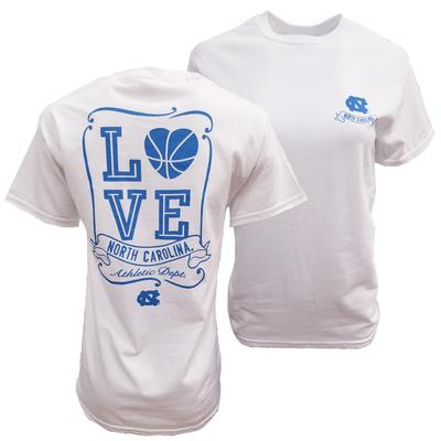 UNC Heart Basketball Tee
