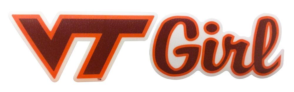 Virginia Tech Vt Girl Decal
