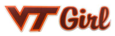 Virginia Tech VT Girl Decal