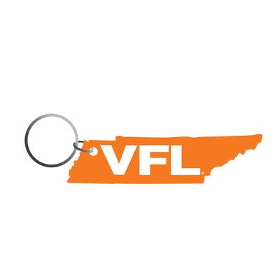Tennessee VFL State Outline Key Chain