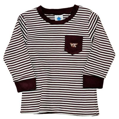 Virginia Tech Toddler L/S Striped Pocket T-Shirt