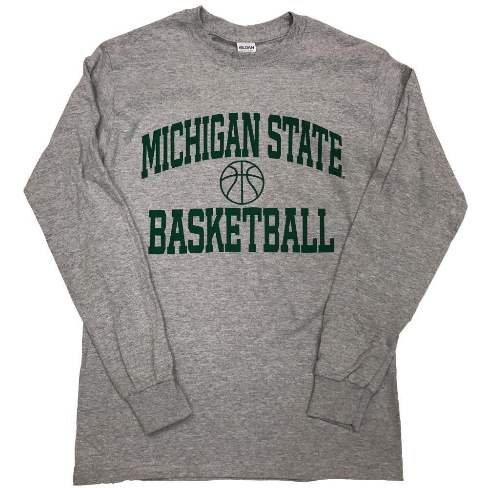 Michigan State Basic Basketball Long Sleeve Tee
