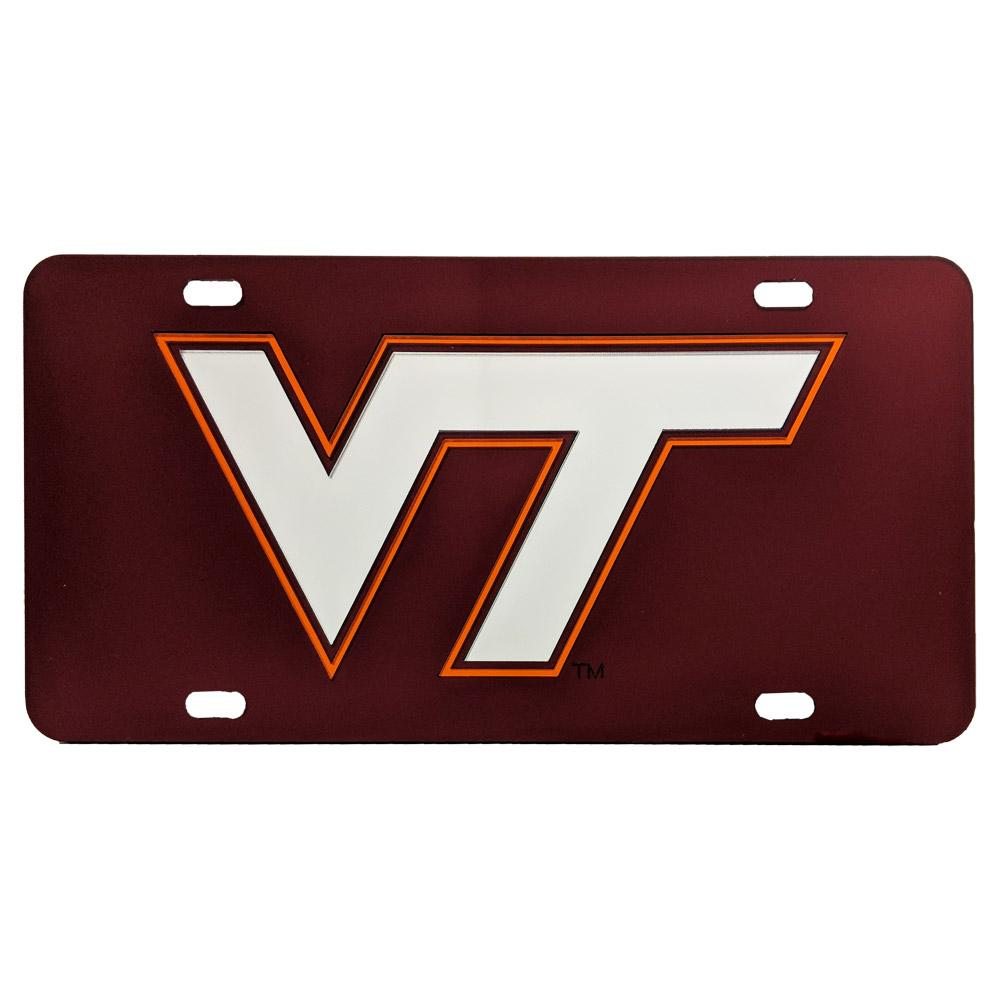 Virginia Tech License Plate Maroon Vt