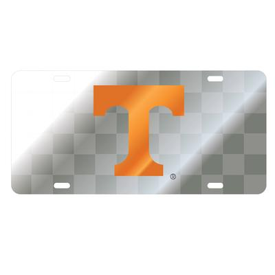 Tennessee Silver Checkered Power T License Plate