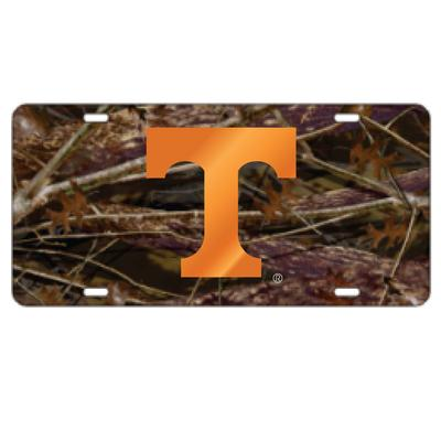 Tennessee Camo with Orange Power T License Plate