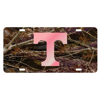 Tennessee Camo with Pink Power T License Plate