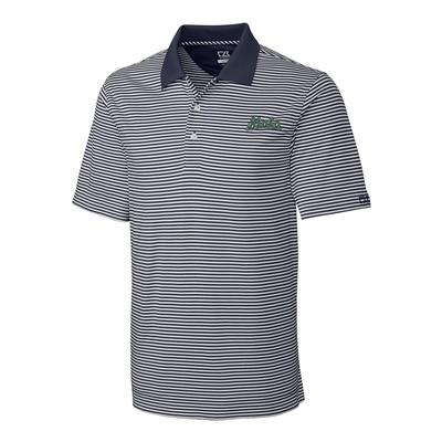 Michigan State Cutter And Buck DryTec Retro Logo Trevor Stripe Polo