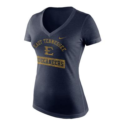 ETSU Nike Women's Triblend Mid V-Neck Tee