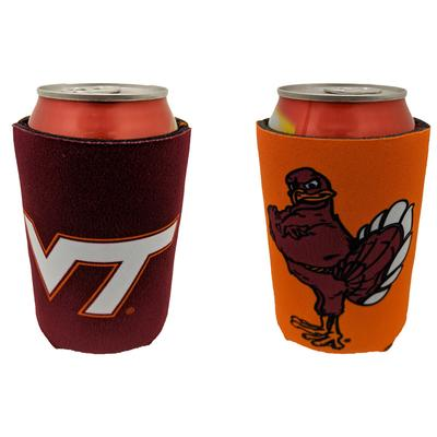 Virginia Tech 2 Logo Can Cooler