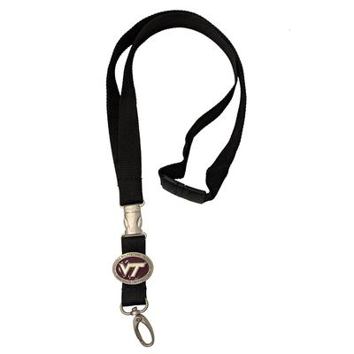 Virginia Tech Detachable Lanyard W/ Pewter Emblem