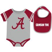 Alabama Colosseum Infant Roll- Out Onesie And Bib Set