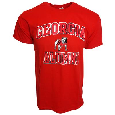 Georgia Standing Bulldog Alumni T-shirt RED