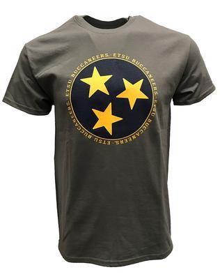 ETSU Tristar Logo T-shirt GRAPHITE