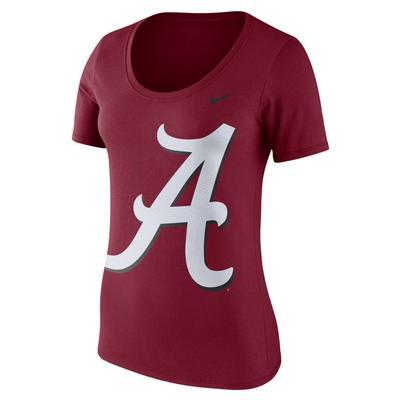 Alabama Nike Women's Short Sleeve Modern Sport Scoop Top