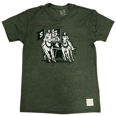 Michigan State Chariot Triblend Tee STREAKY_FOREST