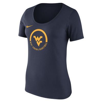 West Virginia Nike Women's Short Sleeve Basketball Verbiage Tee