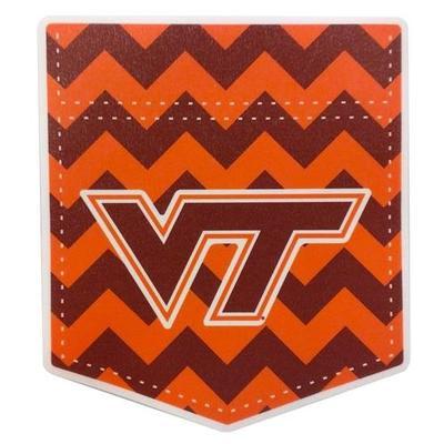 Virginia Tech Chevron Pocket Decal 4
