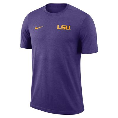 LSU Nike Short Sleeve Coaches Top