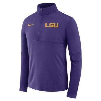 LSU Nike Dri-FIT 1/2 Zip Core Pullover