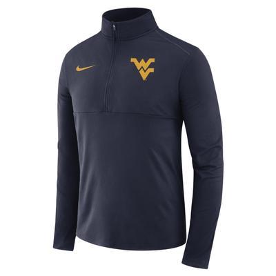 West Virginia Nike Dri-FIT 1/2 Zip Core Pullover