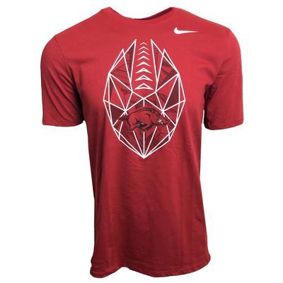 Arkansas Nike Dri-FIT Cotton Football Icon Tee