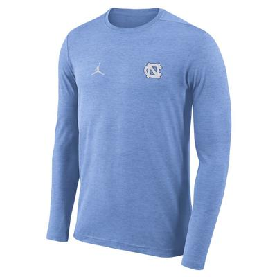 UNC Jordan Brand Long Sleeve Coaches Dry Top