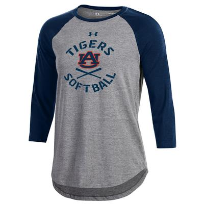 Auburn Under Armour Women's Charged Cotton Softball Tee