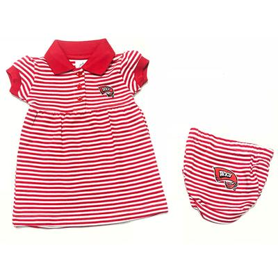 Western Kentucky Infant Striped Dress With Bloomer