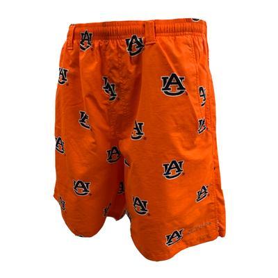 Auburn Columbia PFG Backcast River Shorts ORG