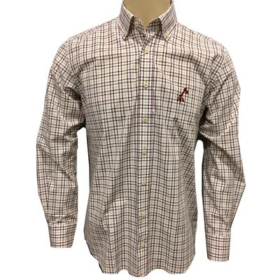 Florida State Frederick Martin Box Plaid Long Sleeve Woven Shirt