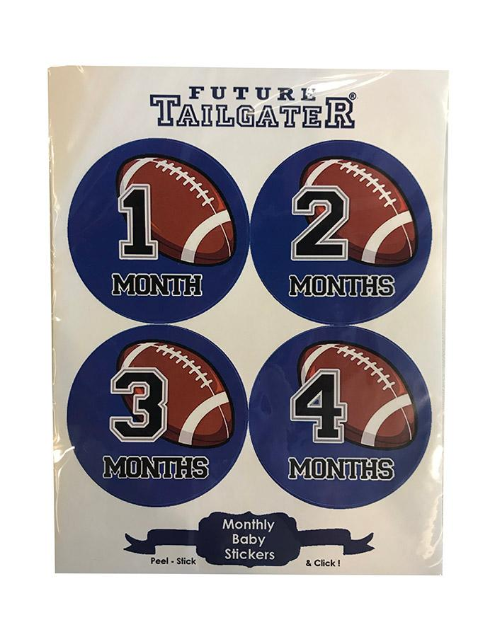 Royal Blue Football Monthly Baby Stickers