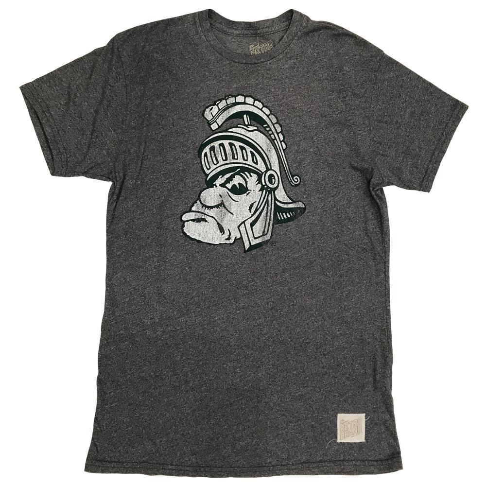 Michigan State Retro Brand Short Sleeve Mock Twist Tee
