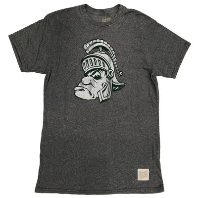 Michigan State Retro Brand Short Sleeve Mock Twist Tee