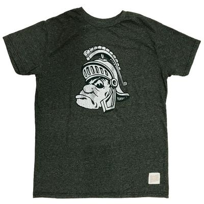 Michigan State Retro Brand Short Sleeve Mock Twist Tee FOREST