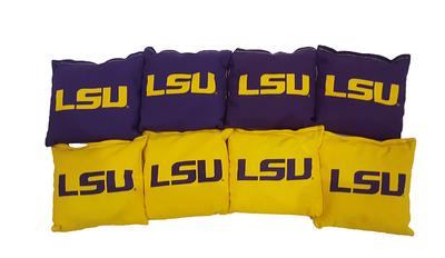 LSU 16oz Corn Filled Cornhole Bags (8)