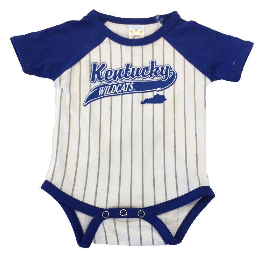 Kentucky Infant Baseball Stripe Romper