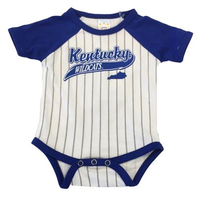 Kentucky Infant Baseball Stripe Romper