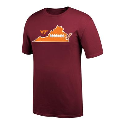 Virginia Tech State Laces Out T-Shirt