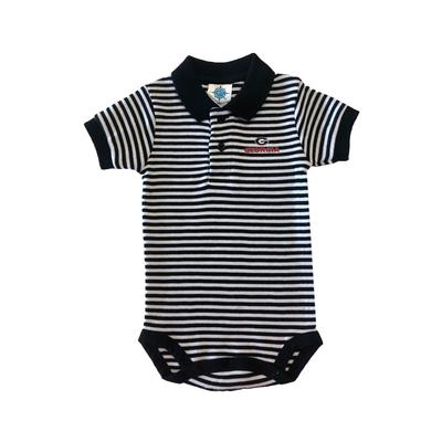 Georgia Infant Striped Polo Bodysuit