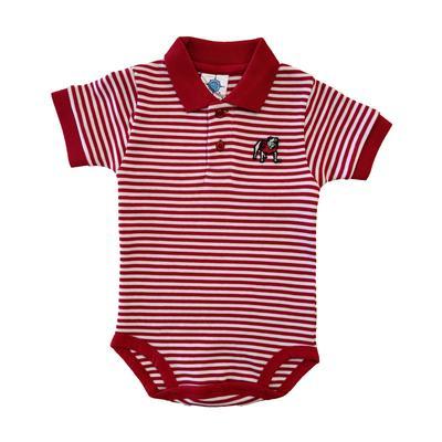 Georgia Infant Striped Polo Bodysuit