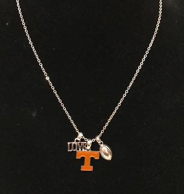 Tennessee Love Football Charm Necklace