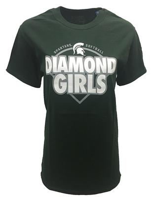 Michigan State Diamond Girls Short Sleeve Tee