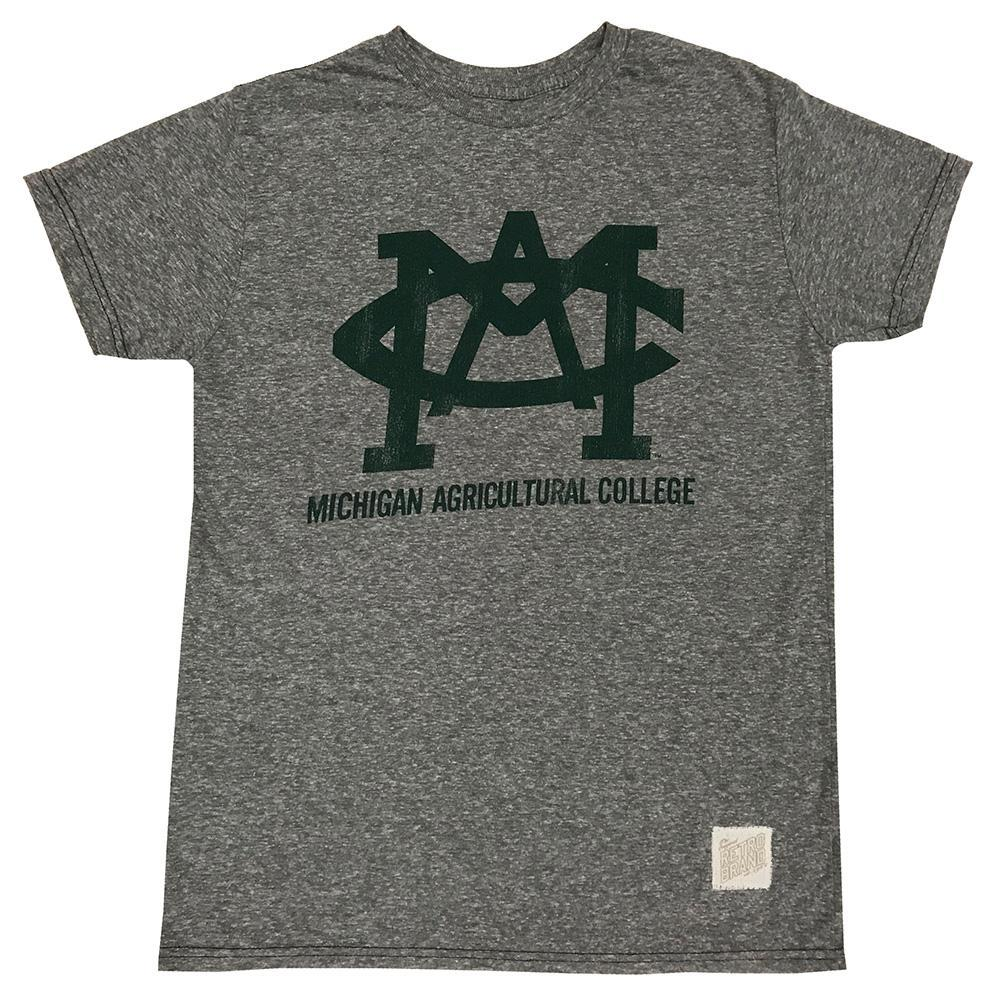 Michigan State Retro Brand Mac Streaky Tee
