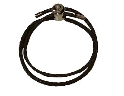 Double Wrap Brown Leather Bracelet