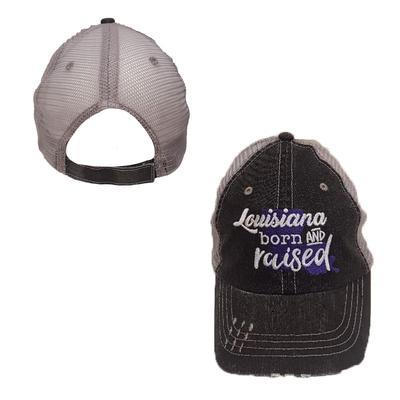 Louisiana Women's Born & Raised Trucker Hat