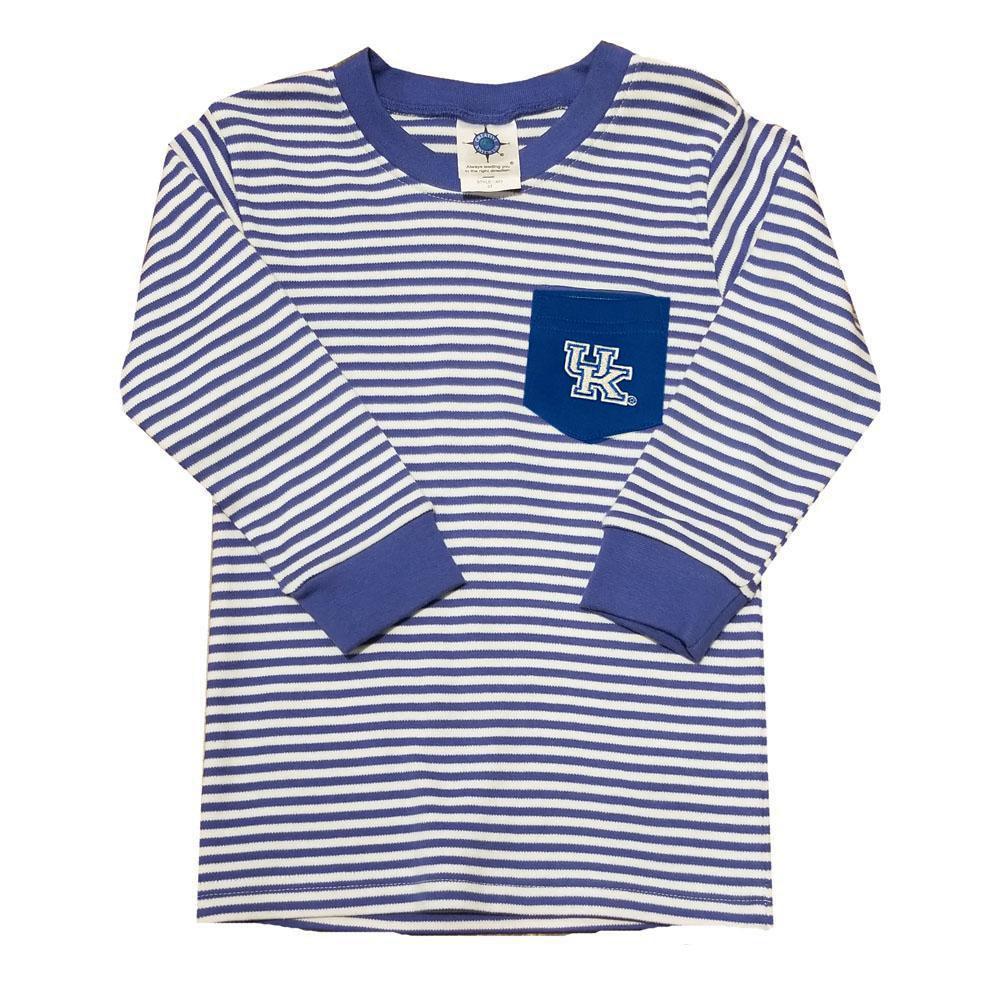 Kentucky Toddler Striped Long Sleeve Pocket Tee