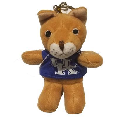 Kentucky Plush Wildcat Keychain