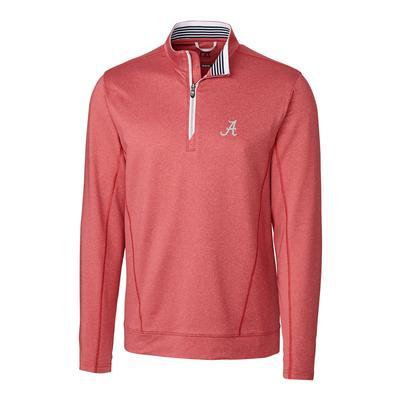 Alabama Cutter & Buck Endurance 1/2 Zip Pullover RED_HTHR