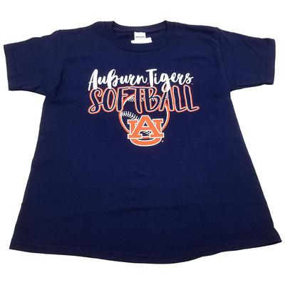 Auburn Youth Script Softball T-shirt