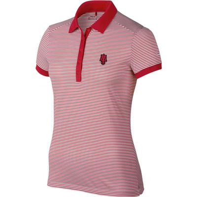 Arkansas Nike Golf Women's Alt Logo Victory Stripe Polo